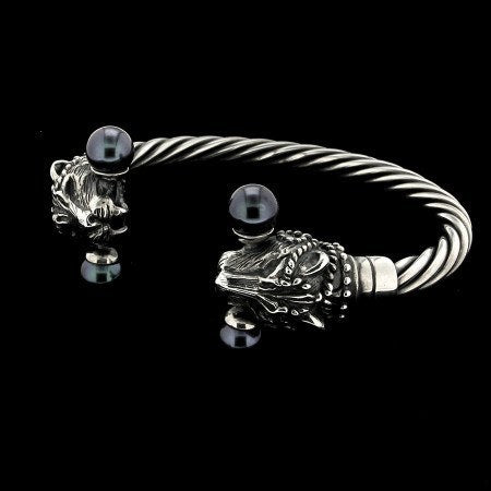 BRACELET - PANTHERS & PEARLS