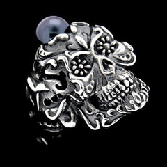 RING - SACRA MUERTE WITH PEARL