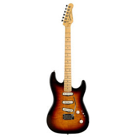 Godin Progression Electric Guitar - Vintage Burst Flame/Maple
