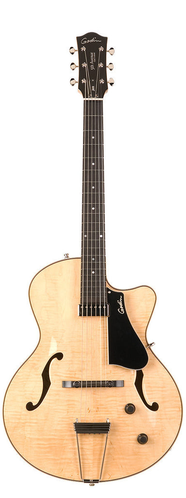 Godin 5th Avenue Jazz Arch Top w/ Tric Case - Natural Flame High Gloss