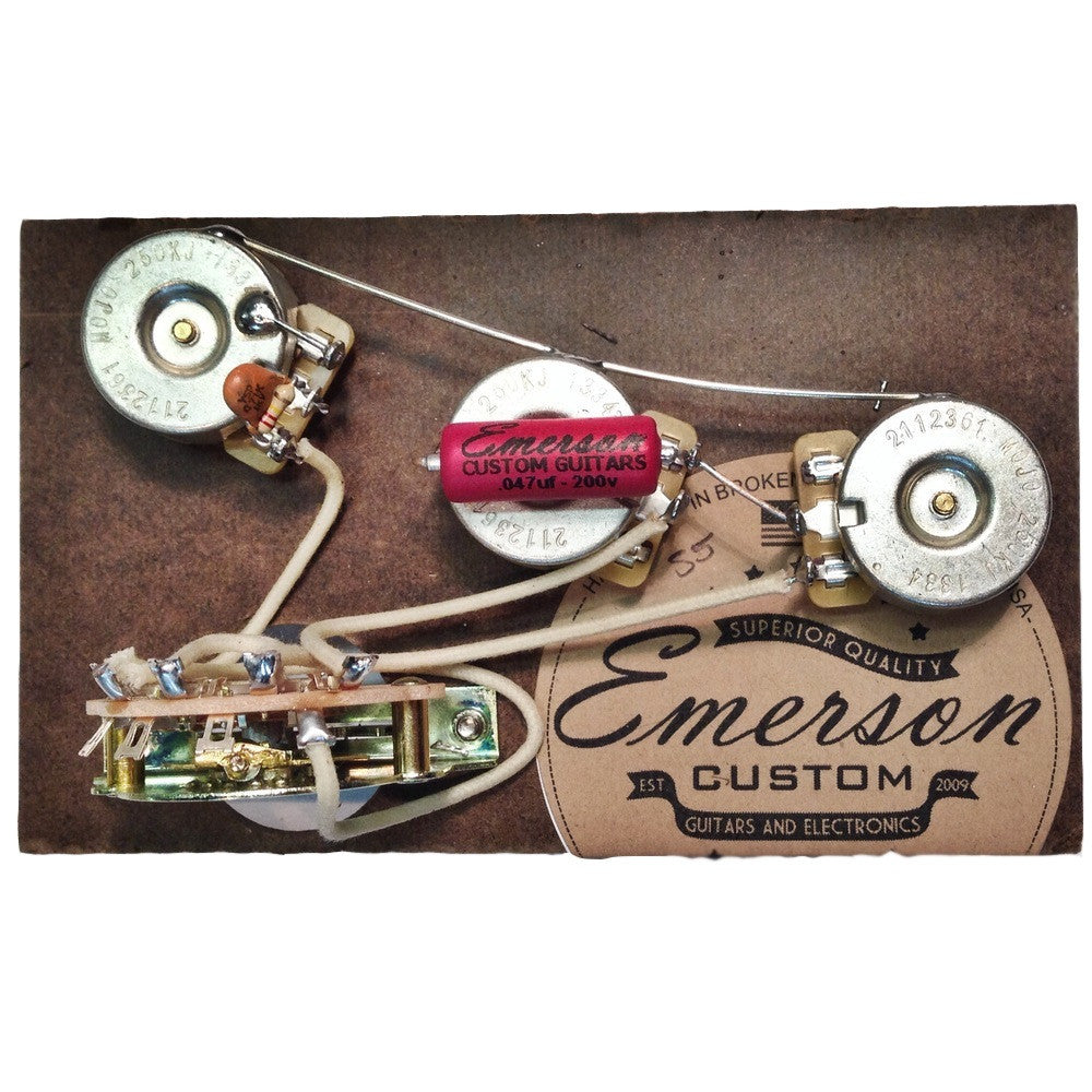 Emerson Custom 5 Way Strat Pre-Wired Kit - 500k