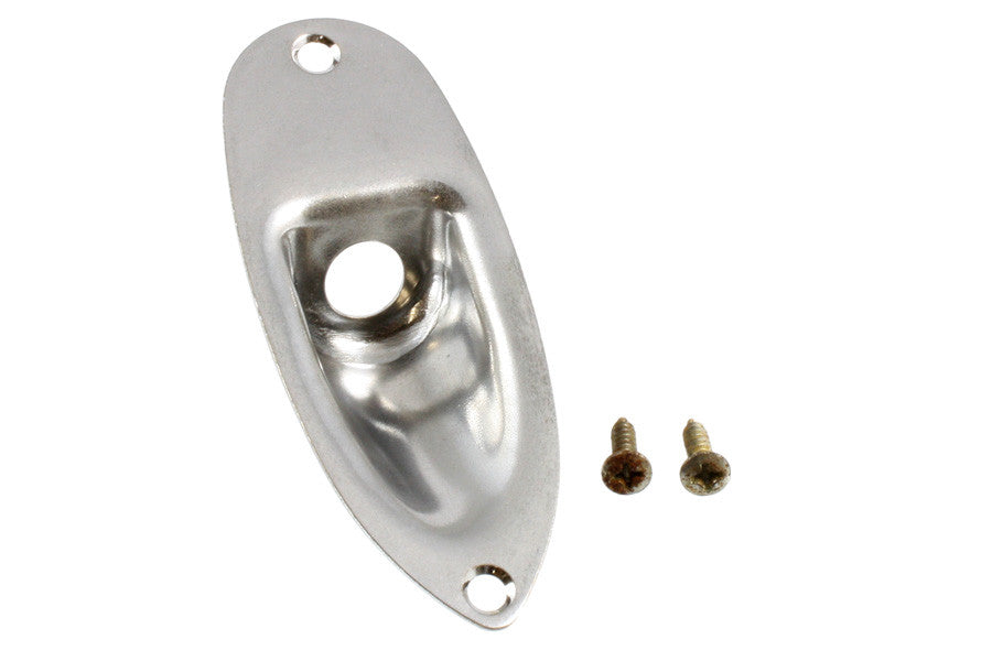 Allparts Jackplate For Strat With Mounting Screws - Aged Chrome