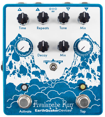 EARTHQUAKER DEVICES AVALANCHE RUN  V2 STEREO DELAY & REVERB WITH TAP TEMPO ($299 USD)