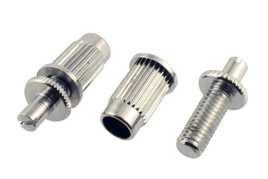 Allparts Large Metric Stud And Anchor Set For Large-Hole Tunematic Bridge - Chrome