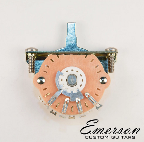 "EMERSON CUSTOM OAK GRIGSBY 5-WAY LEVER SWITCH [INCLUDES 3/8""STAINLESS MOUNTING SCREWS]"