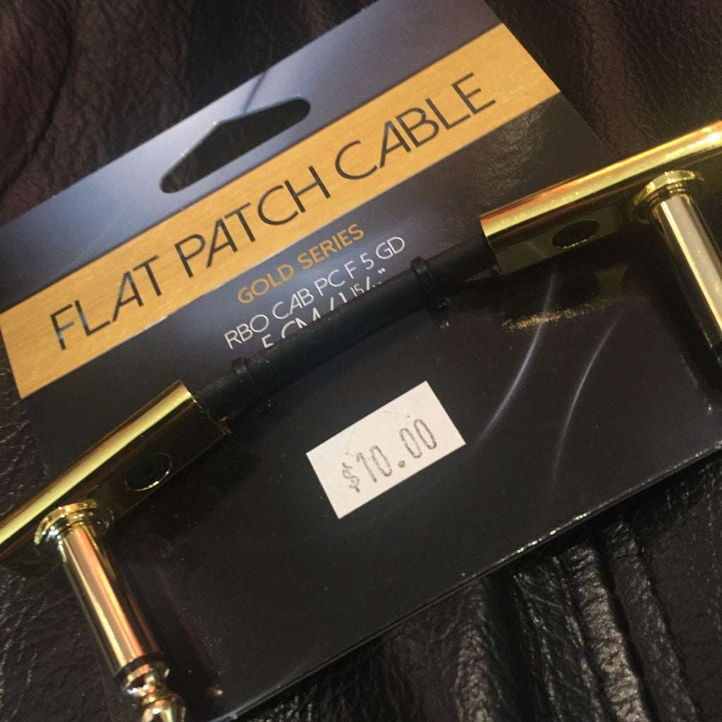 ROCKBOARD FLAT PATCH CABLE 'GOLD SERIES' 5CM/1.97IN