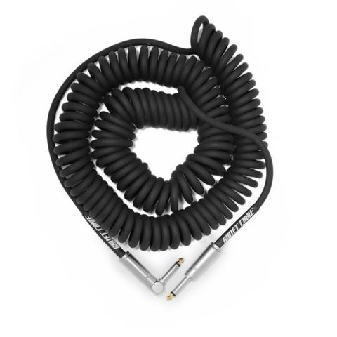 Bullet Cable 30' Black Coil Cable (Straight to Right Angle)