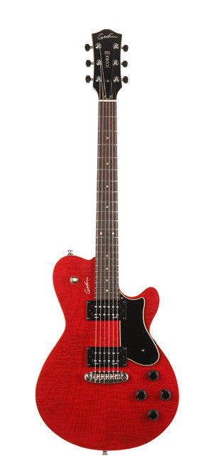Godin Core HB Electric Guitar w/ Gigbag - Trans Red SG/Rosewood
