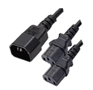 Temple Audio IEC To Double IEC Splitter Cable