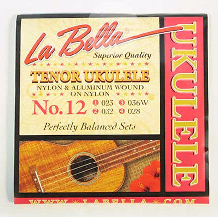 La Bella No.12 Tenor Ukulele Clear Nylon String Set