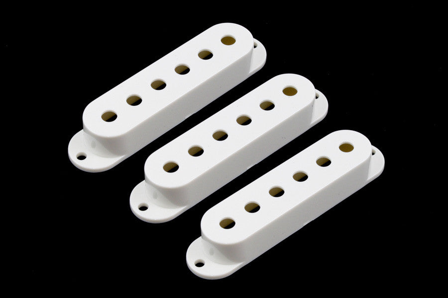 Allparts Pickup Cover Set For Strat (3 Pieces) - White