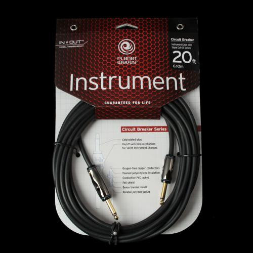 Planet Waves Circuit Breaker 20' Instrument Cable (1/4'')