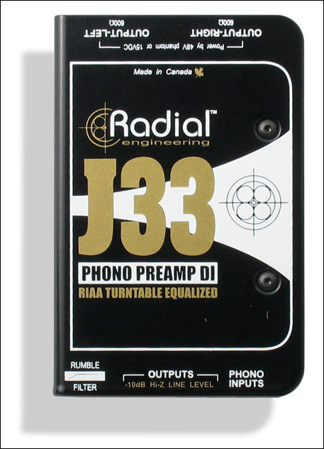 Radial J33 Turntable Direct Box
