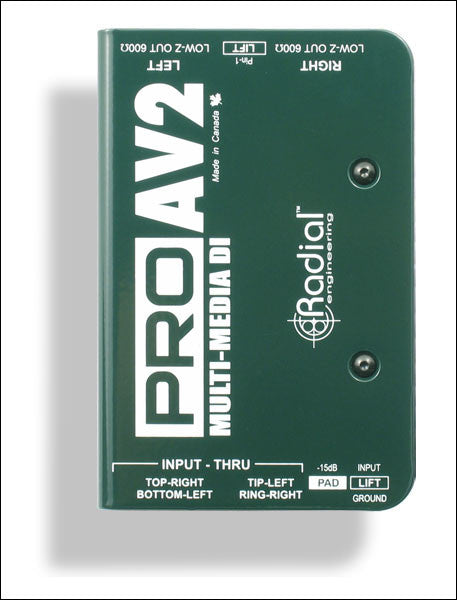 Radial ProAV1 and ProAV2 Multimedia DI