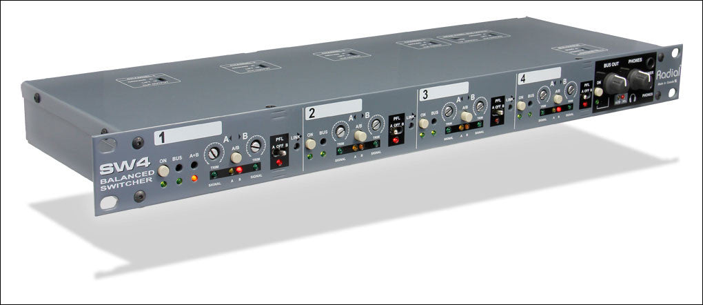 Radial SW4 Four Channel Audio Switcher