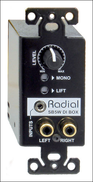 Radial StageBug SB5W Wall-mounted stereo direct box