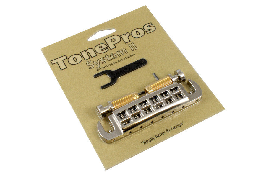 TonePros Wraparound Set With SNS1-N Locking Studs (For Gibson) - Nickel