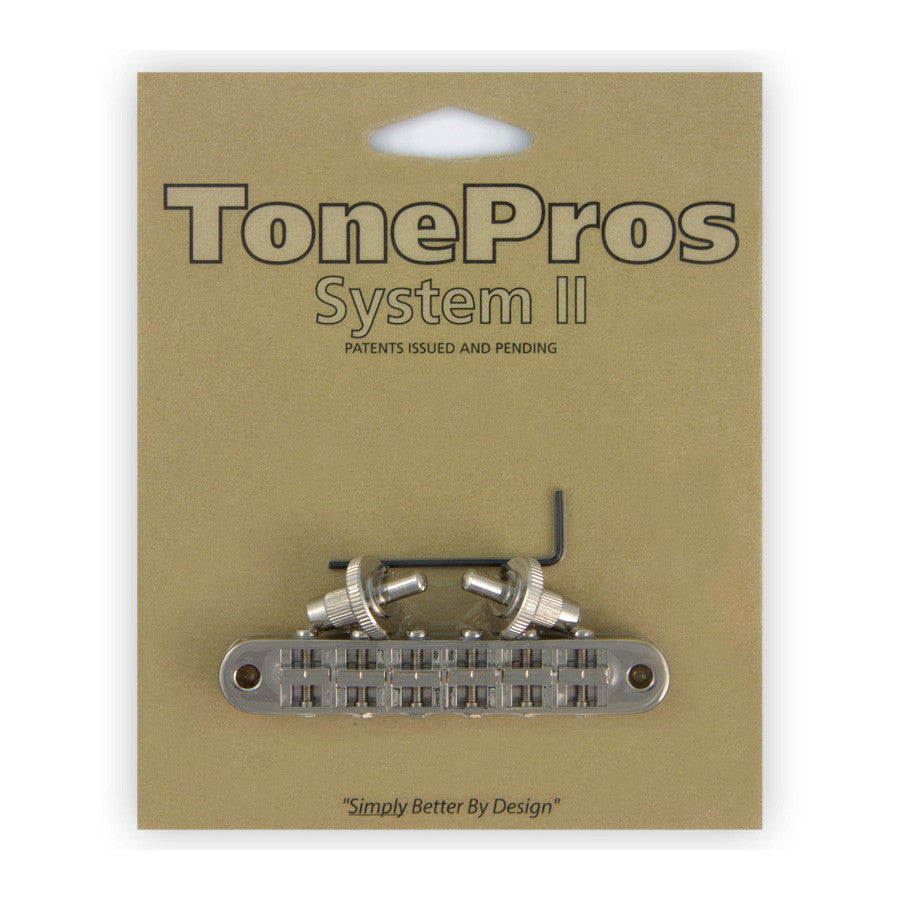 TonePros Standard Tunomatic (Small Posts) Notched Saddles - Nickel