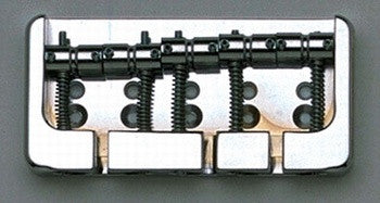Allparts Hipshot 'B'Style/ 5 String Bridge (2-3/4 String Spacing)/ Top Or Through Body Load - Chrome