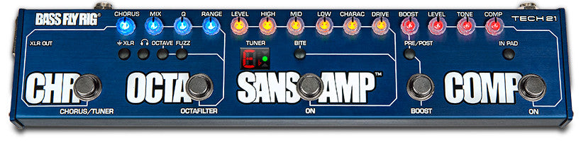 TECH 21 NYC BASS FLY RIG (SANSAMP/COMP/OCTAFILTER/CHORUS/BOOST) MULTI EFFECTS