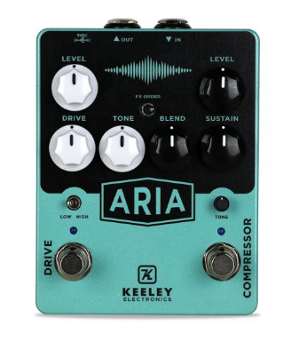KEELEY ARIA COMPRESSOR/OVERDRIVE PEDAL ($199 USD)