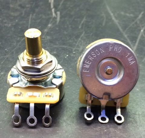 "EMERSON CUSTOM PRO CTS POTENTIOMETERS 1MEG-OHM (AUDIO TAPER – 0.375"" SHORT SOLID SHAFT)"