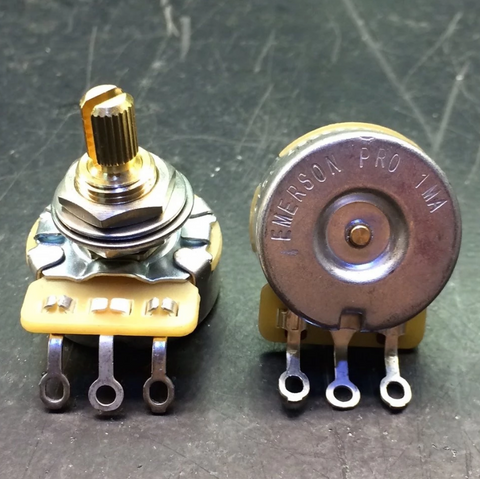 "Emerson Custom Pro CTS Potentiometer 1MEG-OHM  (Audio Taper – 0.375"" Short Split Shaft)"