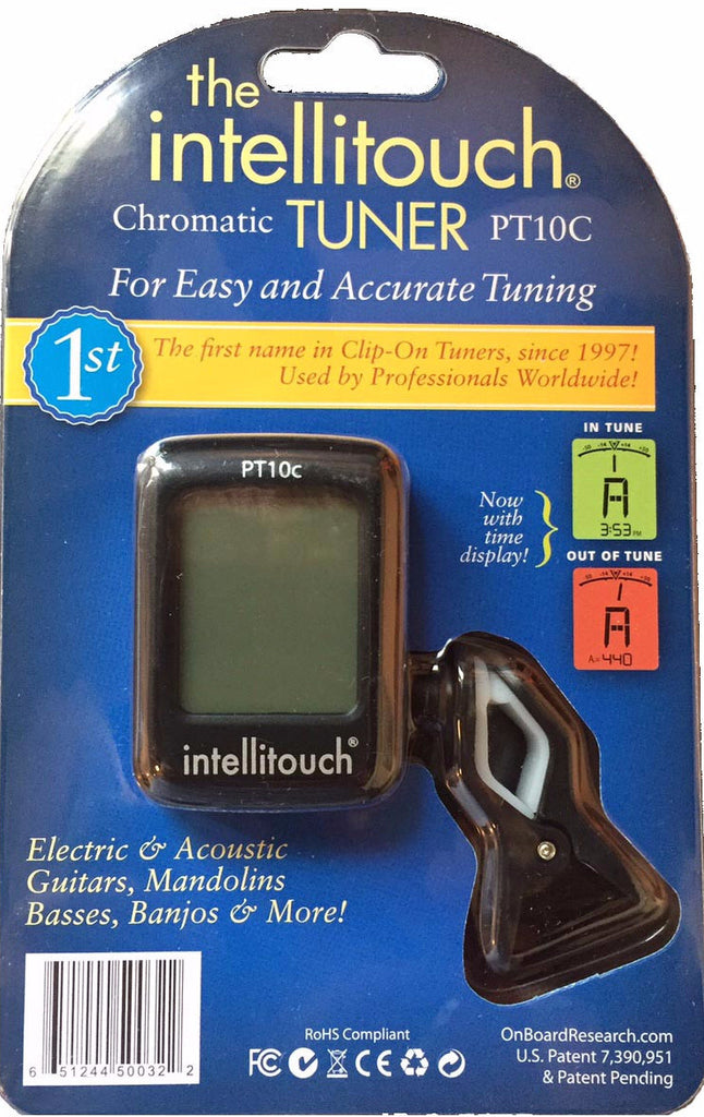 Intellitouch PT10C Clip-On Tuner With Clock