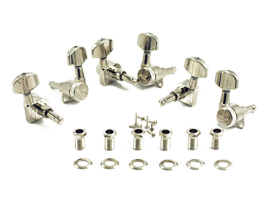 Kluson Locking Tuners - Nickel (Pack Of 6)