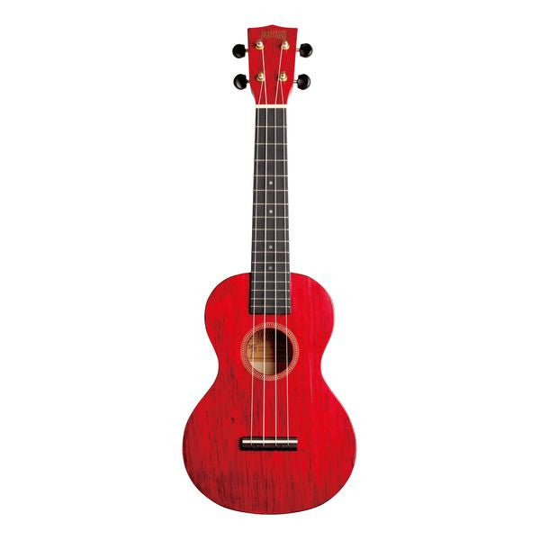 Mahalo Hano Series Concert Ukulele w/ Bag - Transparent Red