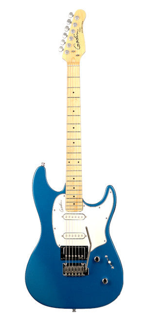 Godin Session Electric Guitar - Electric Blue High Gloss/Maple