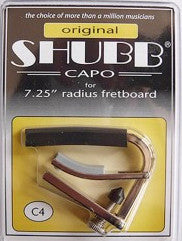 Shubb C4 Electric Guitar Capo - Nickel