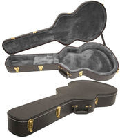 Yorkville Semi-Acoustic Electric Guitar Deluxe Arched Top Hard Shell Case