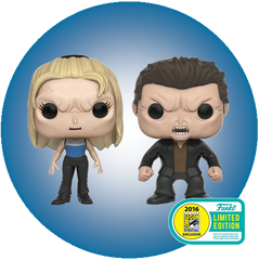 Buffy the Vampire Slayer - Vampire Buffy and Vampire Angel (2 Pack) SDCC 2016 STICKERED EXCLUSIVE