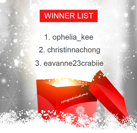 【WINNER LIST】MERRY X'MAS SHARE & WIN CONTEST