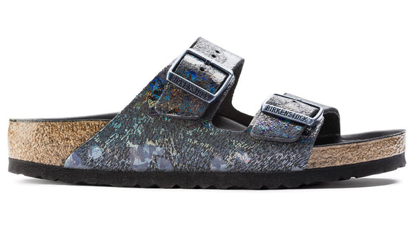Birkenstock Arizona Spotted Metallic Leather Black