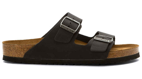 Birkenstock Arizona Black Oiled Leather Soft Footbed