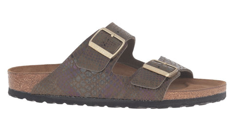 Birkenstock Arizona Shiny Snake Dark Olive