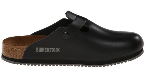 Birkenstock Boston Black Super Grip - Sole Central