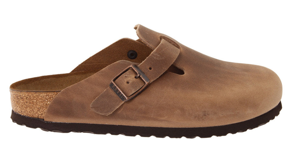 4b06828fdb43 Birkenstock Boston Tabacco Brown Oiled Leather – Sole Central