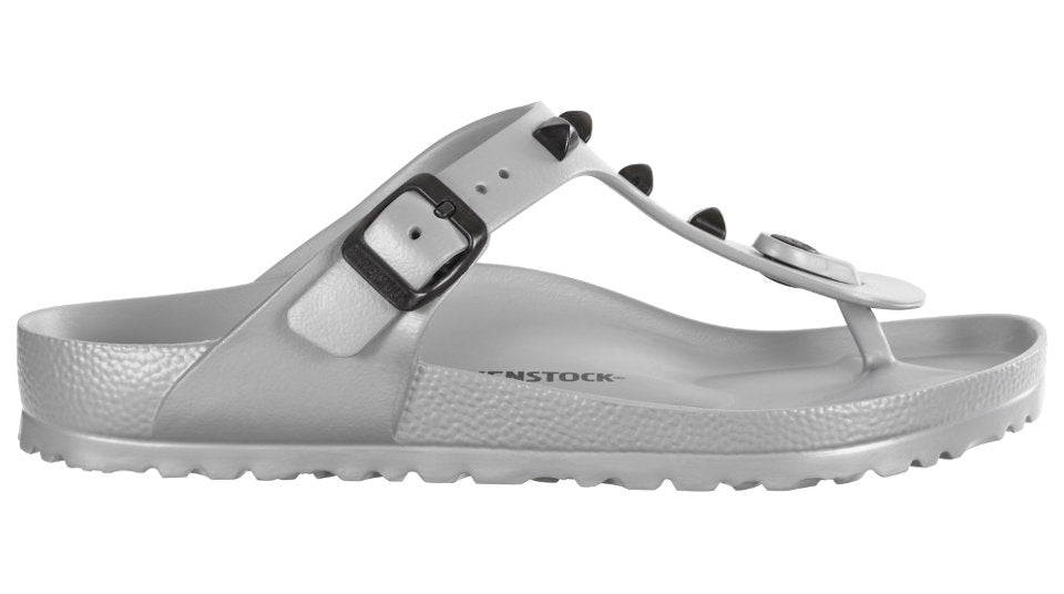 5b1081703d45 Birkenstock Gizeh EVA Studded Silver – Sole Central