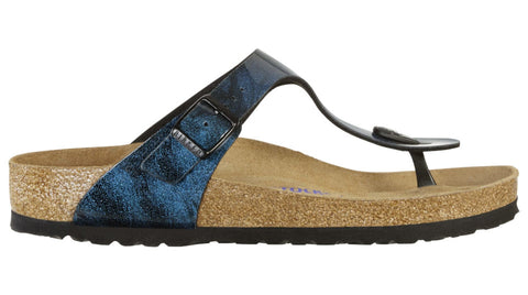 Birkenstock Gizeh Iride Strong Blue Soft Footbed