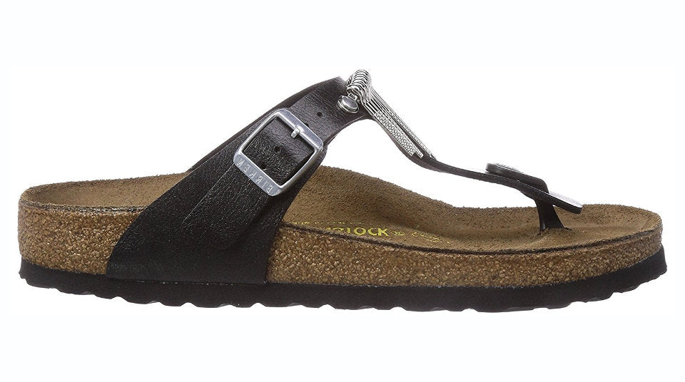 a7447e55cd6 Birkenstock Gizeh Licorice Fringe
