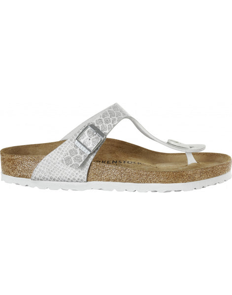 Birkenstock Gizeh Magic Snake White