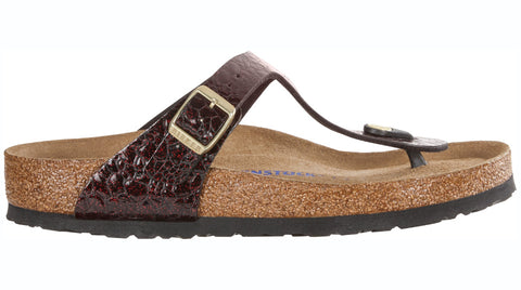 Birkenstock Gizeh Myda Wine Soft footbed