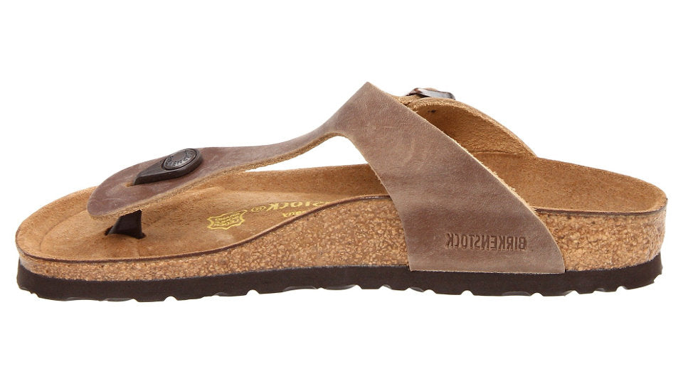 aeddc89222c Details about Birkenstock Gizeh Tobacco Brown Oiled Leather