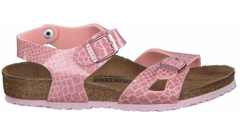 Birkenstock Kids Rio Magic Snake Rose