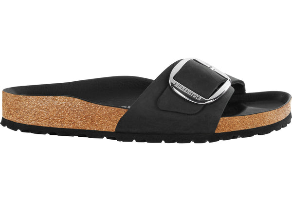 Birkenstock Madrid Leather Big Buckle Black