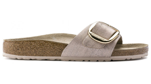 Birkenstock Madrid Leather Big Buckle Metallic Rose