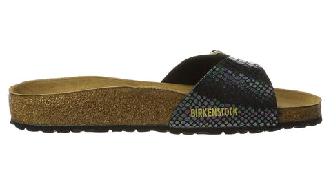 Birkenstock Madrid Shiny Snake Black Multi
